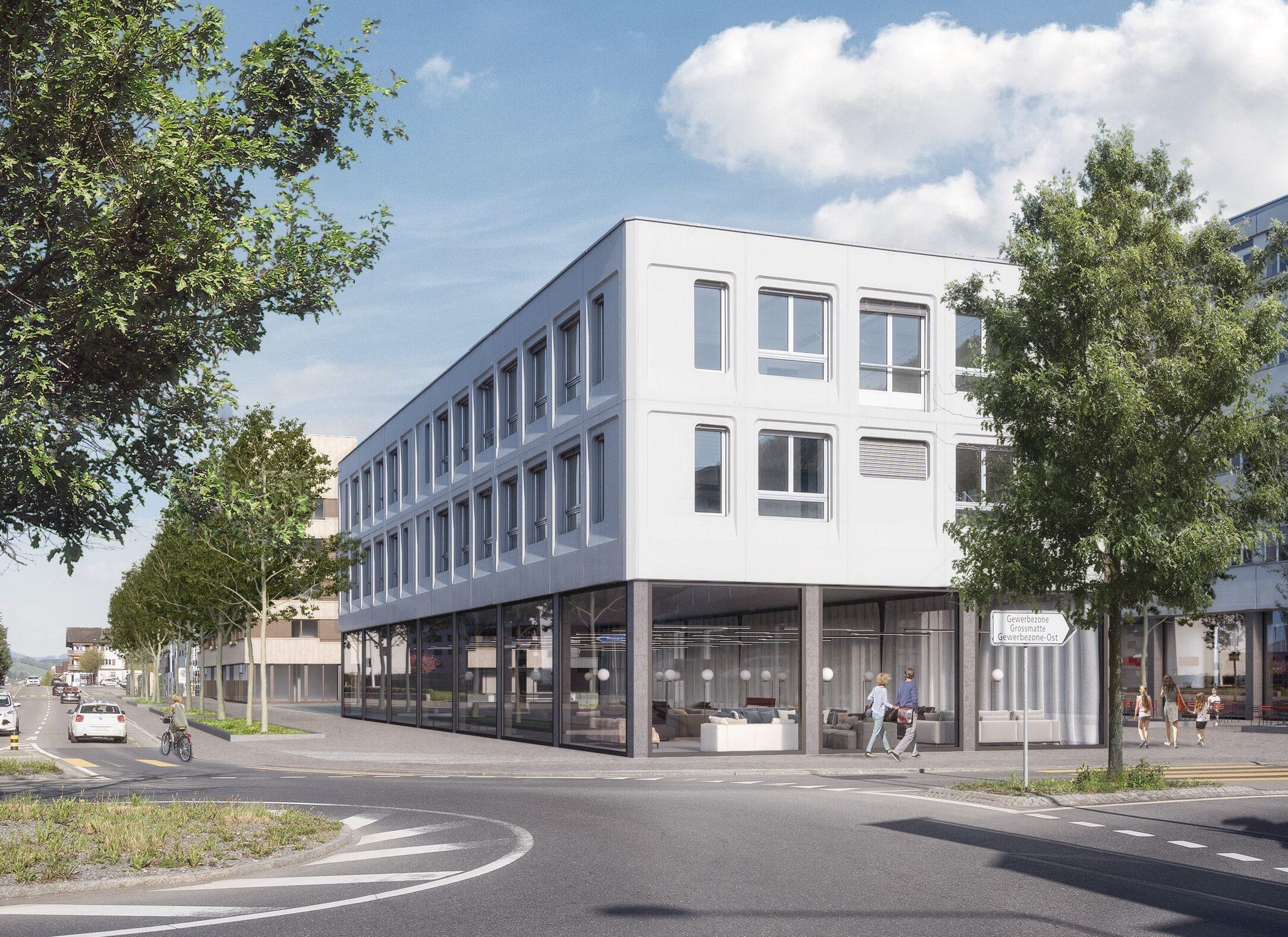 Haus E - Visualisierung Luzernerstrasse 133